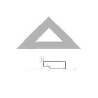AKRYLA – Équerre à dessiner – 26 cm – 45°