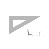 AKRYLA – Équerre à dessiner – 16 cm – 60°  – antitache