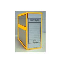 Boîte d'archive pour les plans – avec bordure orange – avec anneau