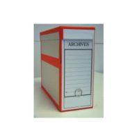 Boîte d'archive pour les plans – avec bordure rouge – avec anneau