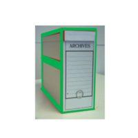 Boîte d'archive pour les plans – avec bordure vert – avec anneau