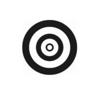 Cibles autocollantes  – blanc / noir mat