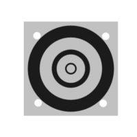 Cibles en aluminium –  noir / blanc – ø 50 mm