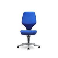 GIROFLEX – Chaise de bureau modèle 64 – BLEU