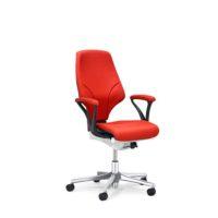 GIROFLEX – Chaise de bureau modèle 64 – ROUGE – avec Accoudoirs