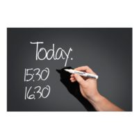 Legamaster – Tableau en verre – noir – 100 x 150 cm