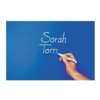 Legamaster – Tableau en verre – bleu – 100 x 150 cm