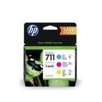 HP – Cartouche d'encre No. 711 – 3 couleurs CMY – 3 x 29 ml