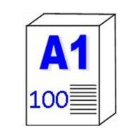 """Papier pour traceur et Imprimante """"Transparent""""  90gm2 – A1"""