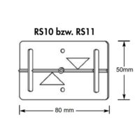 Plaquette de mesure –  RS10 –  blanc