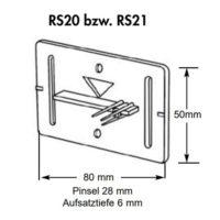 Plaquette de mesure – RS21 – blanc
