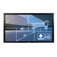 """Legamaster – e-screen ETX-8610 UHD 86"""" noir"""