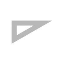 AKRYLA – Équerre à dessiner – 26 cm – 60° – 1.5 mm
