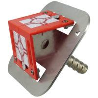 Adaptateur en métal galvanisé à chaud avec tige filetée Dw 15 et badge de mesure d'angle vissé RS80 – ROUGE