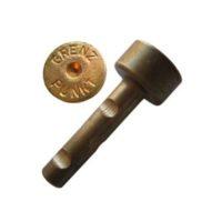 Cheville courte en laiton – «GRENZPUNKT» – boîte de 100 pièces