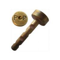 Cheville courte en laiton – «P P» – boîte de 50 pièces