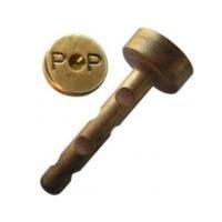 Cheville petite en laiton – «P P» – boîte de 50 pièces
