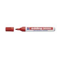 EDDING – Marqeur permanent 3000 1.5-3 mm – rouge , imperméable