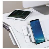 FELLOWES Lotus DX Sit Stand Workstation – blanc