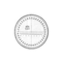 AKRYLA – Rapporteur cercle plein – 20 cm – 360°