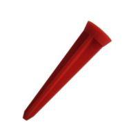 Piquet en plastique rouge 12 cm (92A)