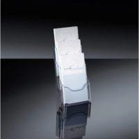 SIGEL – Porte-brochure en acrylique, 3 compartimente – 130 x 150 x 290 mm