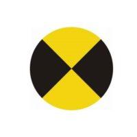 Cibles autocollantes -jaune / noir mat