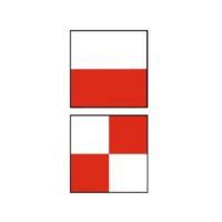 Cibles autocollantes – rouge / blanc