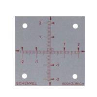 Cibles en aluminium – repère d'axe spécial – 50 x 50 mm