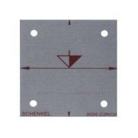 Cibles en aluminium – repère traceur de la hauteur – 50 x 50 mm