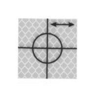 Cible de précision – 30 x 30 mm – Argent – 18 pièces