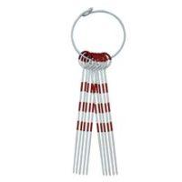 Aiguilles de marquage rouge/blanc, longueur 38 cm, jeu de 11 aiguilles