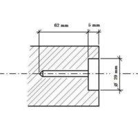 Bohrer für feine Dübelbolzen ø 28 mm L=55 mm «POINT LIMITE + GRENZPUNKT»
