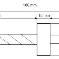 Bohrer für Grenzbolzen «POINT LIMITE» ø 33 mm L=90 mm