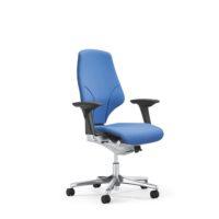 GIROFLEX – Chaise de bureau modèle 64 – BLEU – avec Accoudoirs