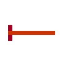 Té en matière synthétique – brun – 75 cm