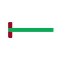 Té en matière synthétique – vert – 75 cm