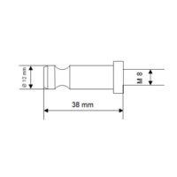 Goujon inox – CFF – 38 mm