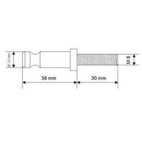 Goujon inox – CFF – 38 mm avec filetage 30 mm