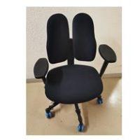 DUO-BACK – Chaise de bureau modèle duo-back 11 – tissu noir