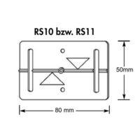 Plaquette de mesure – (RS10) – blanc