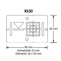 Plaquette de mesure avec cible COMBI (RS31) – rouge