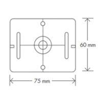 Plaquette de mesure – (RS71) – gris