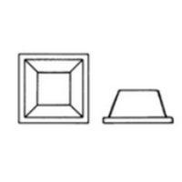 Espaceur PVC – autocollant transparent